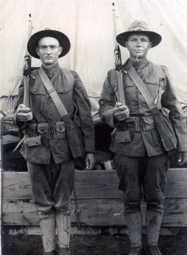 John Roy McCravey and Herman Cunningham, 1918